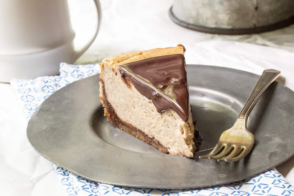 Chai Cheesecake - Chocolate chai cheesecake is a creamy, dreamy dessert reminiscent of the spicy coffeehouse favorite.