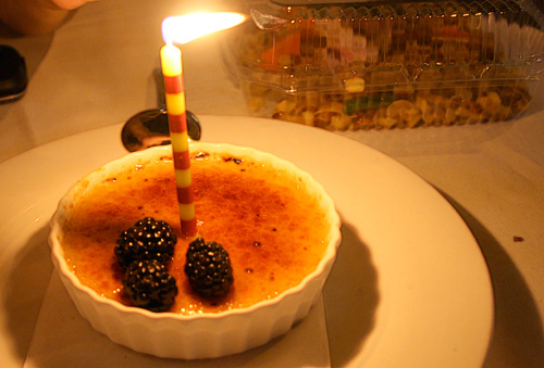 Creme Brulee at Annie's