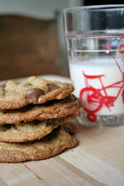 Chocolate Chip Cookie - These chocolate chip cookies have a crispy edge and chewy inside... and they are kind of healthy, to boot!