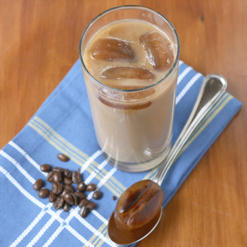 Iced Coffee - Make your own iced coffee at home! Because the ice cubes are made of coffee, your drink won't get diluted, unlike iced drinks from some coffee places!