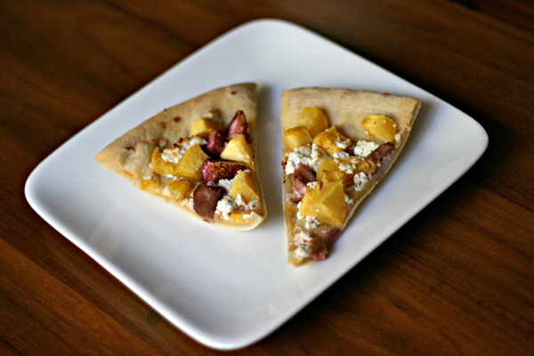 Fig Pizza - Figs contain tons of fiber and are a good source of potassium, so make yourself a fig pizza with acorn squash and goat cheese!