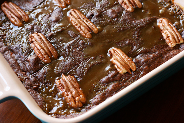 Turtle Brownies - Adding butterscotch sauce makes these turtle brownies ultra-rich, and the pecans add some texture and crunch.