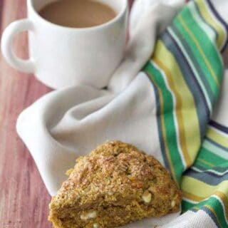 Pumpkin Scones with White Chocolate Chips