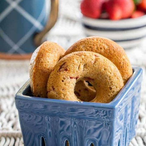 Strawberry doughnuts are easy to make, easy to devour. They're wonderful for spring and summer breakfasts.