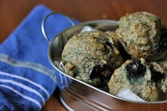 Soy-free Vegan Blueberry Muffins on Stetted