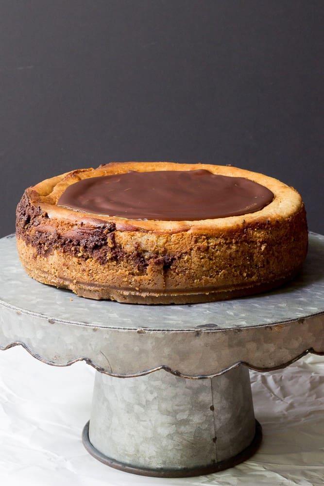 Chai Cheesecake - Chocolate Chai Cheesecake is reminiscent of fall.