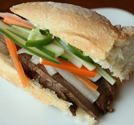 Homemade Sirloin Banh Mi Sandwiches