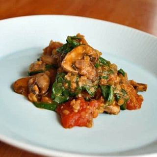 Indian-Spiced Mushrooms and Lentils
