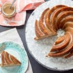 Spiced pear cake can be served plain at breakfast or with salted caramel glaze for dessert.