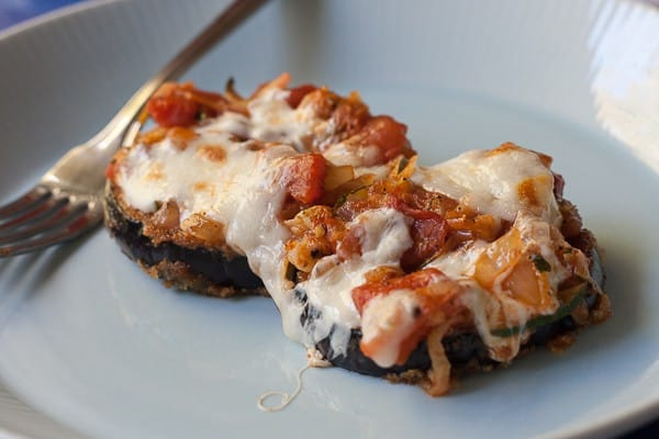 eggplant parmesan - This lighter version of eggplant parmesan adds zucchini for an extra vegetable punch, and is perfect for a weeknight dinner.