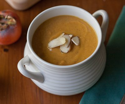 Persimmon Sweet Potato Soup