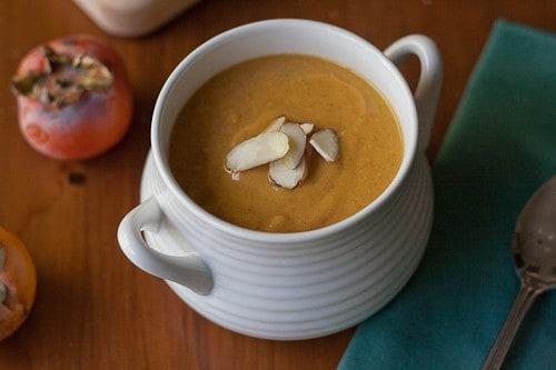 Persimmon Sweet Potato Soup