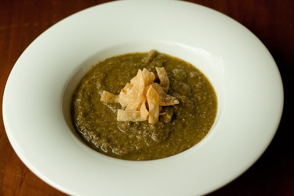 Greens Soup - Need to use up all those bunches of greens? Try a healthful greens soup.