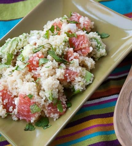 Grapefruit Avocado Couscous
