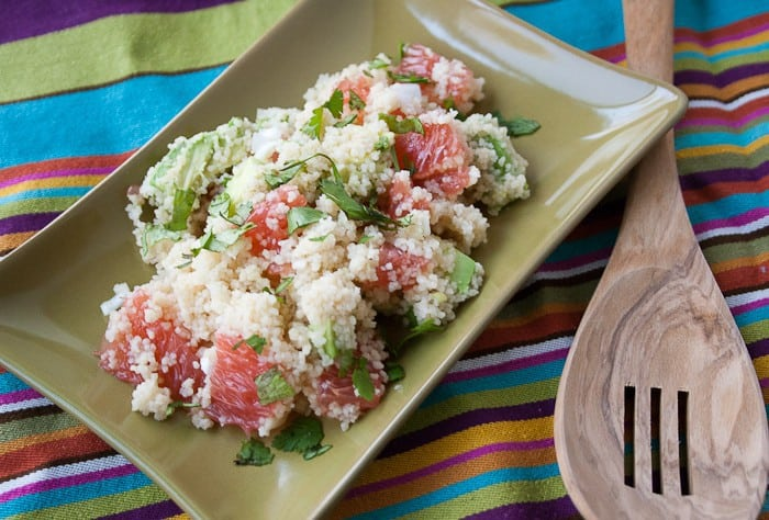 Couscous - A lovely pink-dotted couscous salad for a lovely friend.