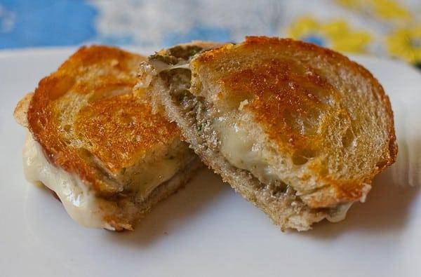 Mushroom Pesto Grilled Cheese