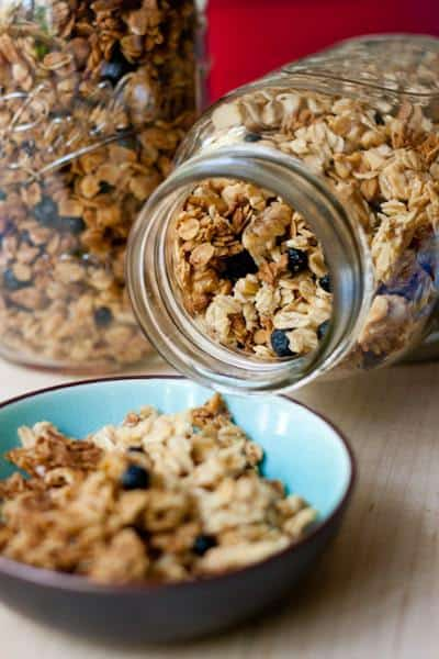 Lemon Blueberry Granola - This easy lemon blueberry granola is reminiscent of your favorite breakfast muffin.