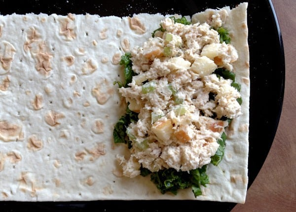 Tuna Salad Wraps are Rolled with Massaged Kale