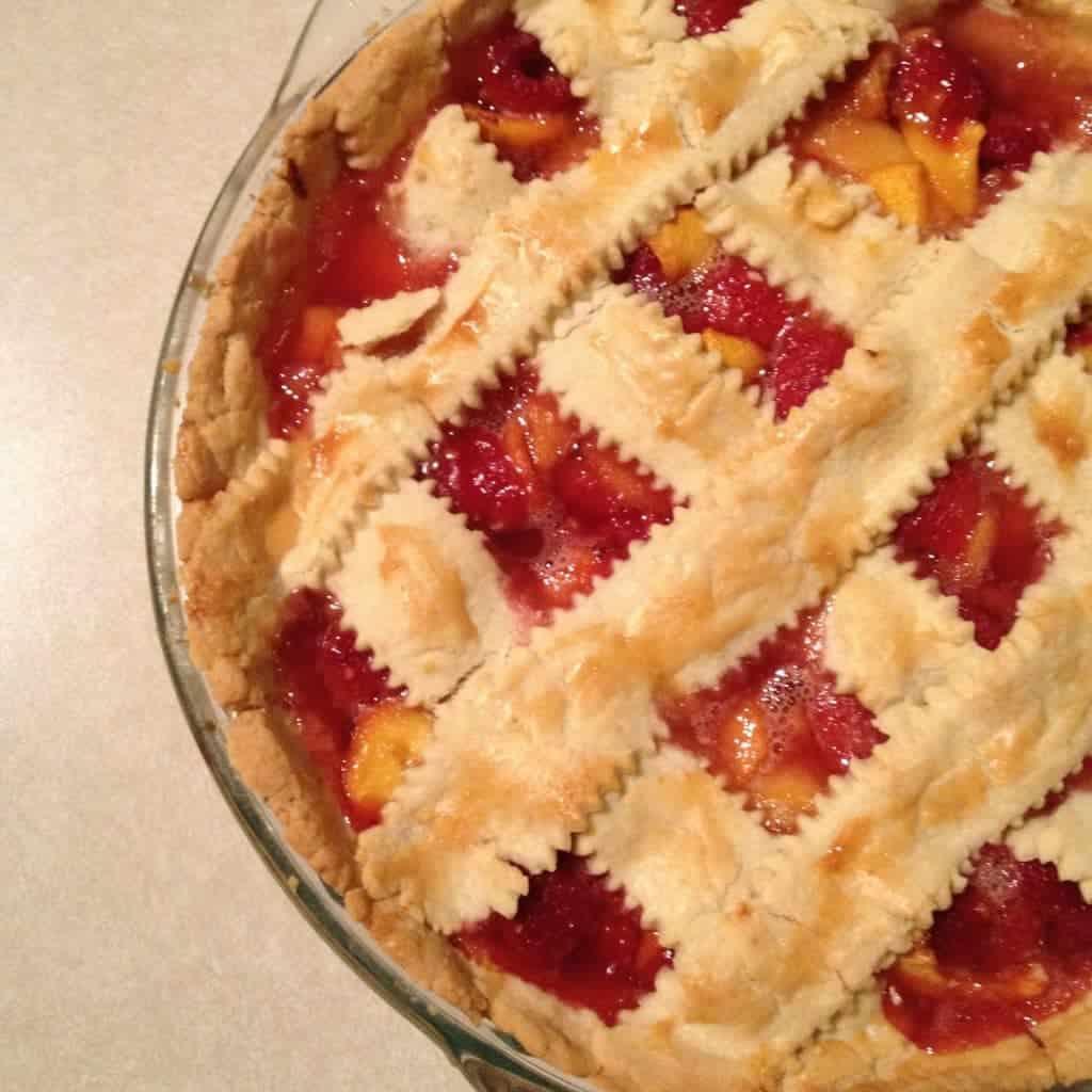 Peach Raspberry Pie will brighten up your summer days.