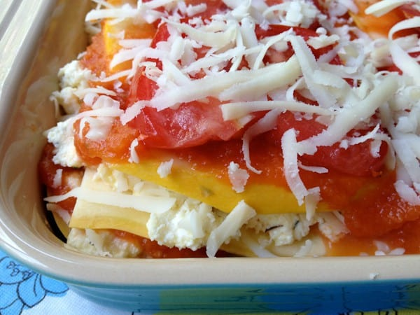 Summer Lasagna - Lasagna doesn't have to include noodles!