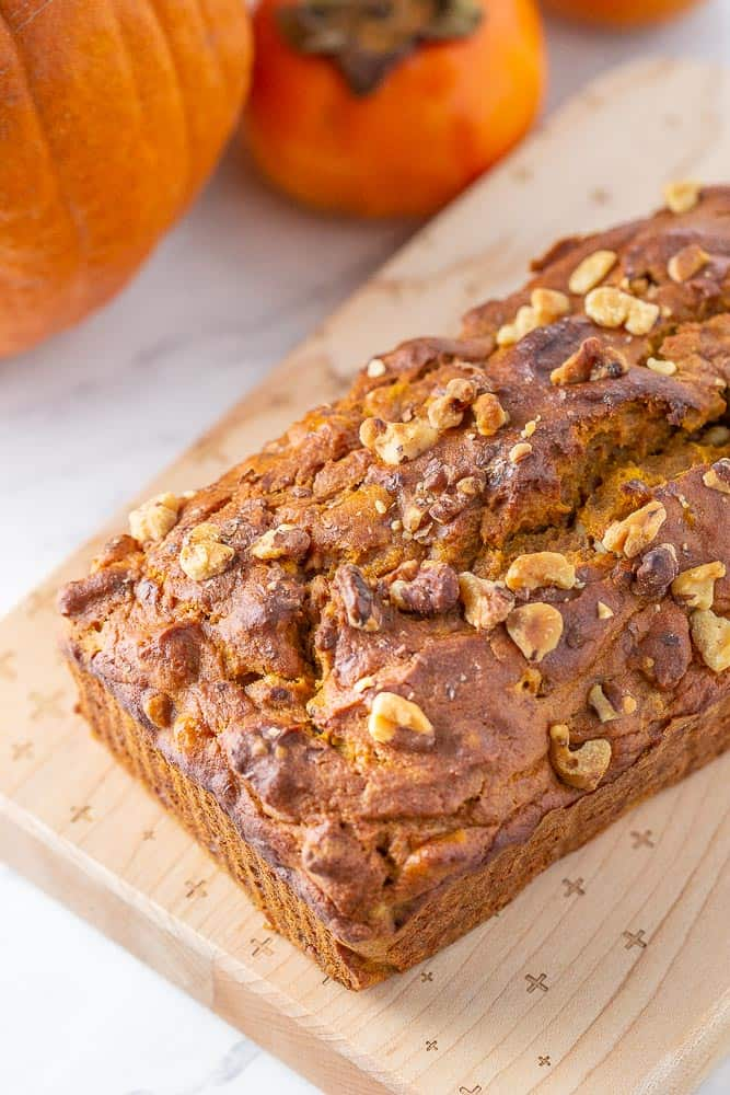 Pumpkin persimmon bread