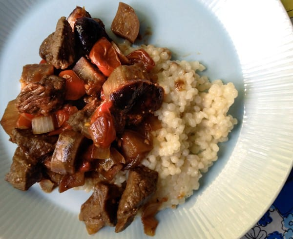 Lamb, Eggplant, and Fig Skillet Meal