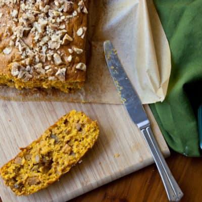 Pumpkin Persimmon Walnut Bread