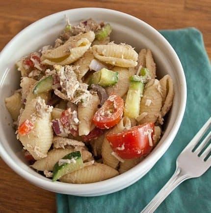 Creamy Balsamic Chicken Pasta Salad