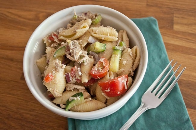 Creamy Balsamic Chicken Pasta Salad