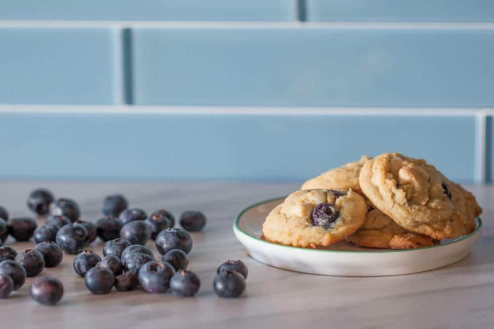 Mix up your cookie routine with these blueberry white chocolate cookies.