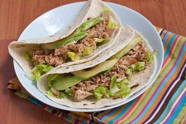 Chicken Tacos - Take the opportunity to step away from the oven this summer and make these simple chicken tacos for dinner.