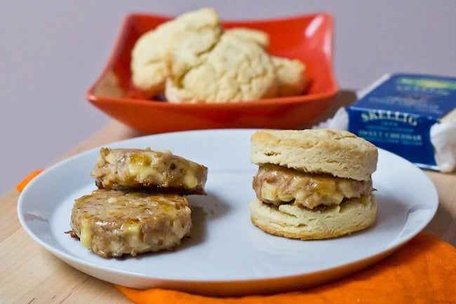Breakfast Sausage is made better with apples and cheddar.