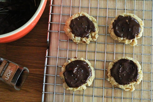 Chocolate Hazelnut Cookies with Espresso Salt - The Espresso Brava salt on top of these cookies gives a salty-sweet hit of satisfaction.