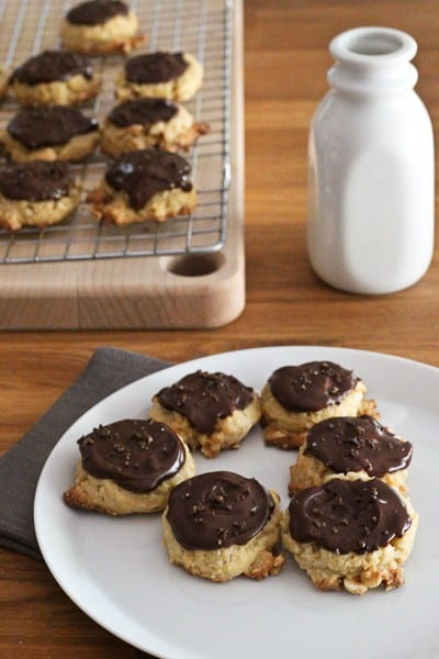 Chocolate Hazelnut Cookies - These Chocolate Hazelnut Cookies with Espresso Salt are a delicious way to change up your cookie routine.