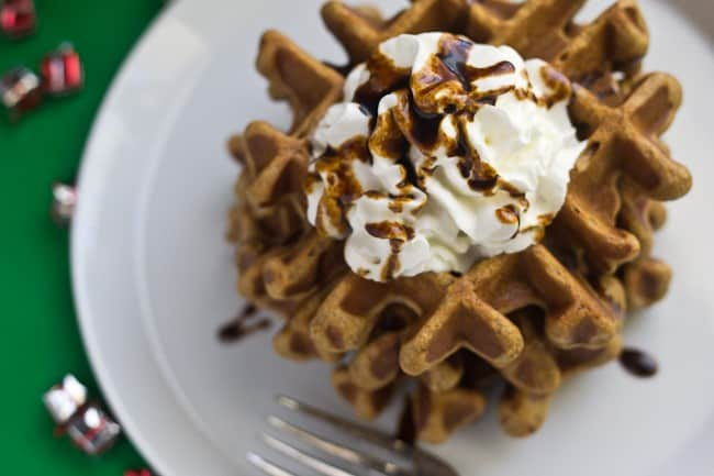 Gingerbread Waffles - If you need an idea for Christmas morning breakfast, why not give these Gingerbread Waffles a try?