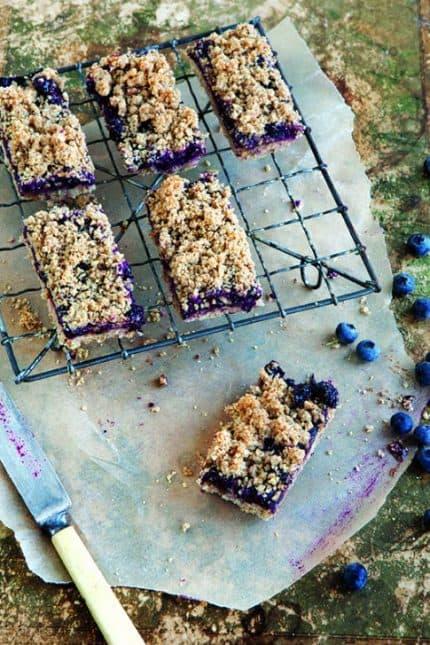WGMN Blueberry Breakfast Bars image p 96