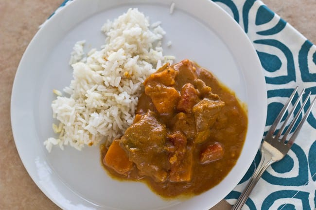 Goat Curry with Sweet Potatoes