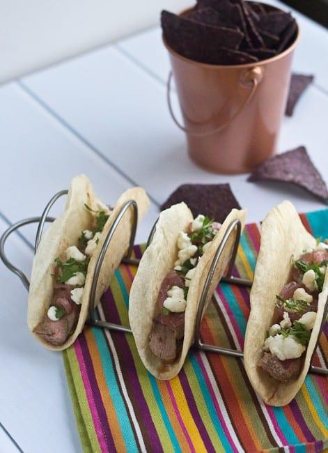 Goat Tacos - A recipe for quick goat tacos.