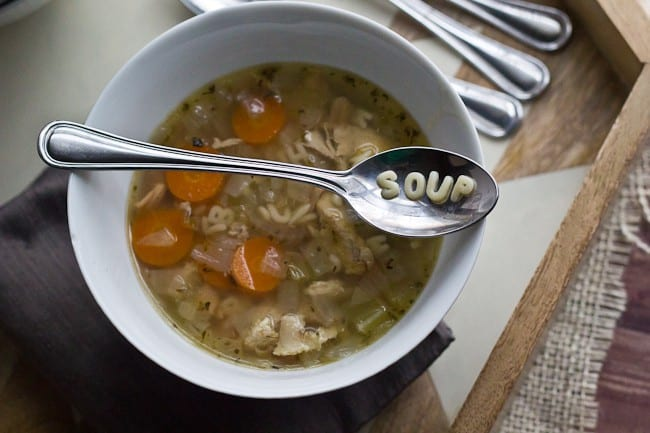 Chicken Soup - Rounding out More Cluck for Your Buck with soup made from your chicken bones.