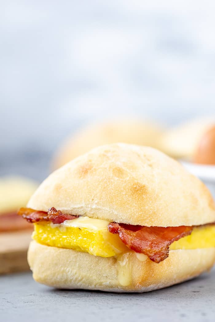 Copycat Starbucks breakfast sandwiches are full of egg, cheese, and bacon for a fulfilling meal.