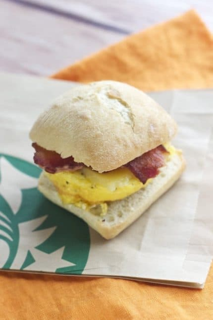 Copycat Starbucks Breakfast Sandwich