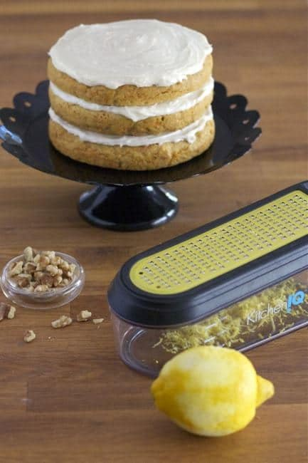 Carrot Cake with Lemon Frosting - Microplane Grater