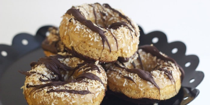 Baked Samoa Donuts have all the flavors of your favorite Girl Scout cookie.