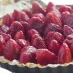 Strawberry Mint Ricotta Tart