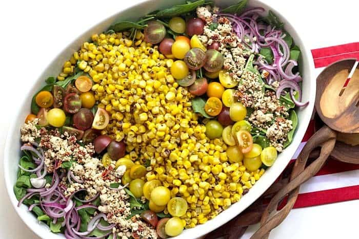 Roasted Corn Salad is a snap to pull together.