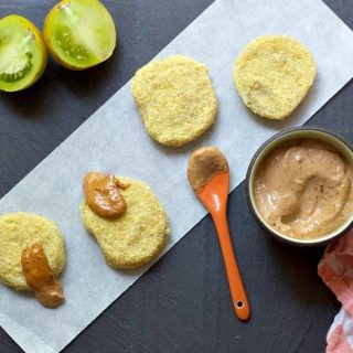 Fried Green Tomatoes with Smoked Tomato Basil Aioli image on Stetted