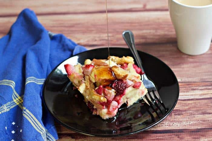 overnight berry french toast - Get a jump start on the day by preparing breakfast the night before with this Overnight Berry French Toast.