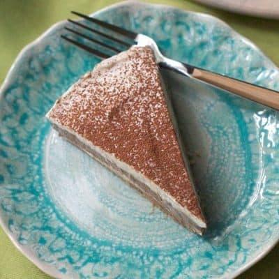 No-Bake Mocha Marble Cheesecake