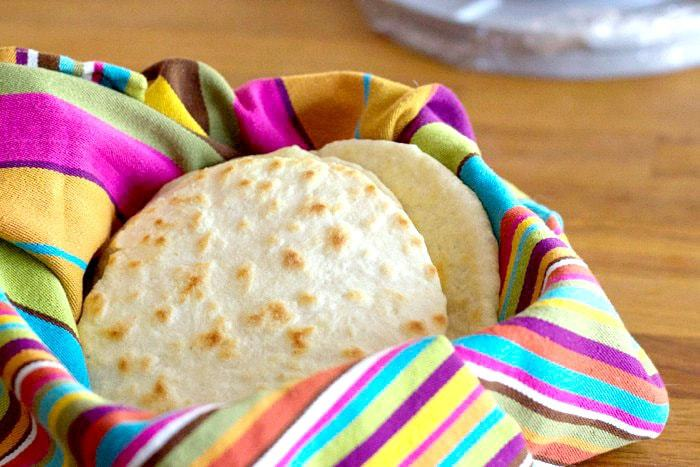 Homemade Tortillas - Tortillas are always best when they're made right before eating, but you can cook up the whole batch in advance as well.