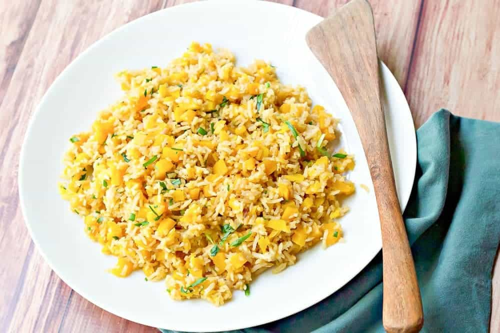 Butternut squash pilaf is a family-friendly dish that uses a fall favorite. Have it alongside your favorite meat.
